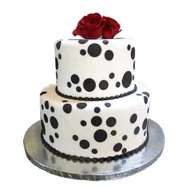 24 hrs Delivery @ 2.5Kg celebration two tier Vanilla Party Cake