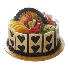 Send Online 1 Kg delight Chocolate Fruit Cake