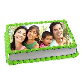 online Delivery of 1.5 Kg family Photo Cake available in all flavors