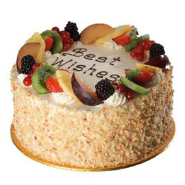same day Online Fresh Fruit marble Cake Delivery