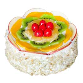 Send Online half Kg Fresh Fruit punch Cake