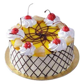 buy Online 1 Kg glorious charm Pineapple Cake