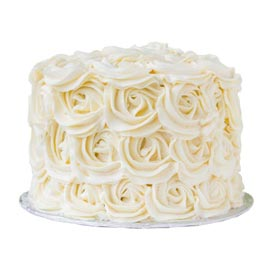 Free Home Delivery Of Half Kg Vanilla Roses Cake