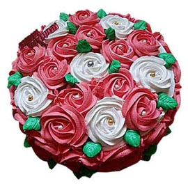 Send Online 1.5 Kg mix roses designer Cake available in all flavors