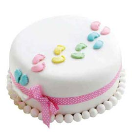buy Online 1 Kg new arrival fondant Cake available in all flavors