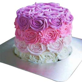 xpress Delivery of 1 Kg royal colors designer Cake available in all flavors