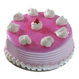 xpress Delivery of Half Kg Strawberry crush Cake