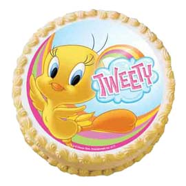 xpress Delivery of 1.5 Kg tweety Photo Cake available in all flavors